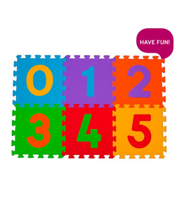paklājiņš-puzzle NUMBERS - 6 plāksnes  Babyono 275