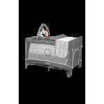 Ceļojumu gulta FLOWER grey scandi Lionelo
