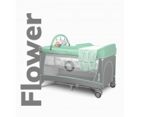 Ceļojumu gulta FLOWER turquoise Lionelo