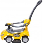 Mašīna ar stumjamo rokturi MEGA CAR yellow  Sunbaby J05.008.1.2