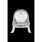 Atpūtas krēsliņš ROSA grey/white ar apgriežamo sēdekli Lionelo