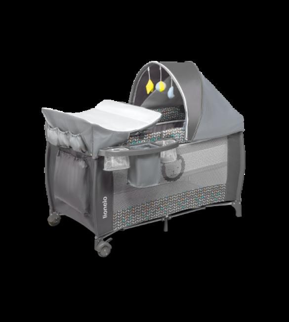 Saliekamā gulta SVEN grey scandi (2 līmeņi) Lionelo
