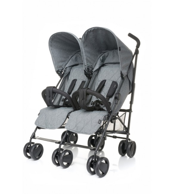 Dvīņu ratiņi 4baby TWINS grey