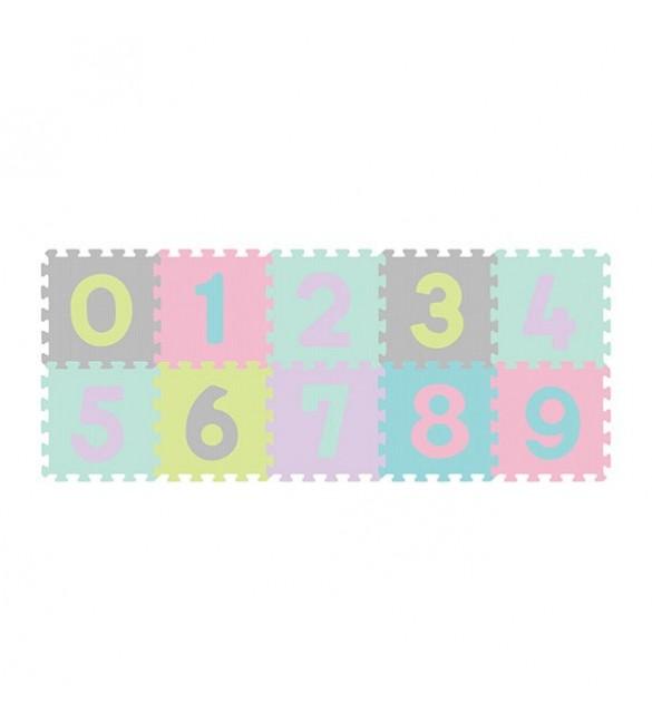 paklājiņš-puzzle NUMBERS - 10 plāksnes  Babyono 274/02