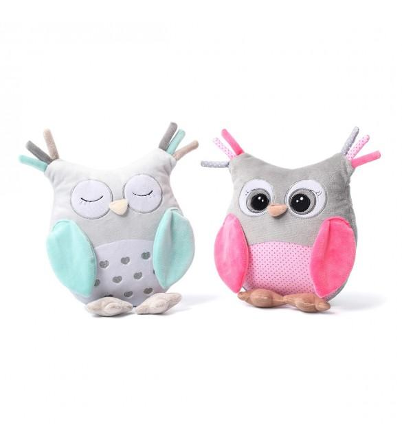 Mīksta rotaļlieta OWL SOFIA ar grabuli BabyOno 441