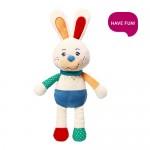 Mīksta rotaļlieta RABBIT JERRY ar grabuli un čaukstošām ausīm BabyOno 614