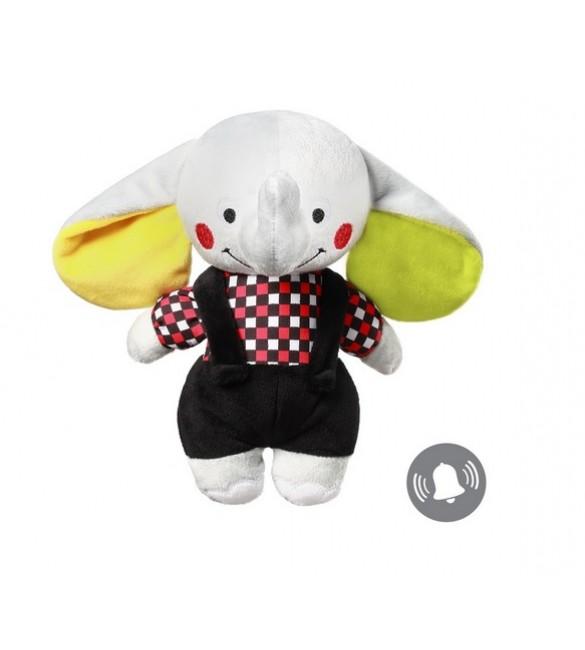 Mīksta rotaļlieta Zilonītis ANDY (ar grabuli) BabyOno 637  (С: MORE)