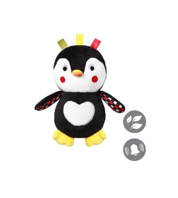 Mīksta rotaļlieta Pingvīns CONNOR (ar grabuli) BabyOno 640  (С: MORE)