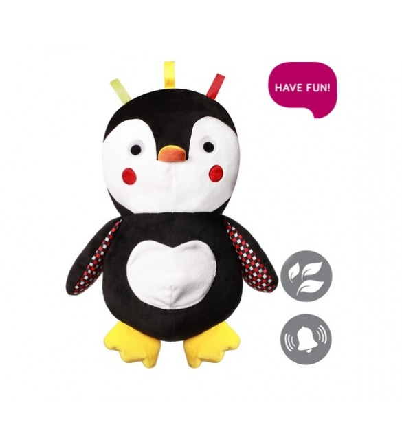 Mīksta rotaļlieta Pingvīns SIR CONNOR (ar grabuli) BabyOno 647  (С: MORE)
