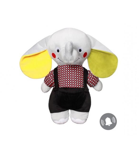 Mīksta rotaļlieta Zilonis ANDY SENIOR (ar grabuli) BabyOno 648 (С: MORE)