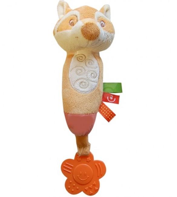 Rotaļlieta ar pīkstuli un zobu graužamo  OWL ZW-13 BoboBaby