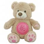 Projektors ar mūziku BEAR HADI pink BabyMix 37214
