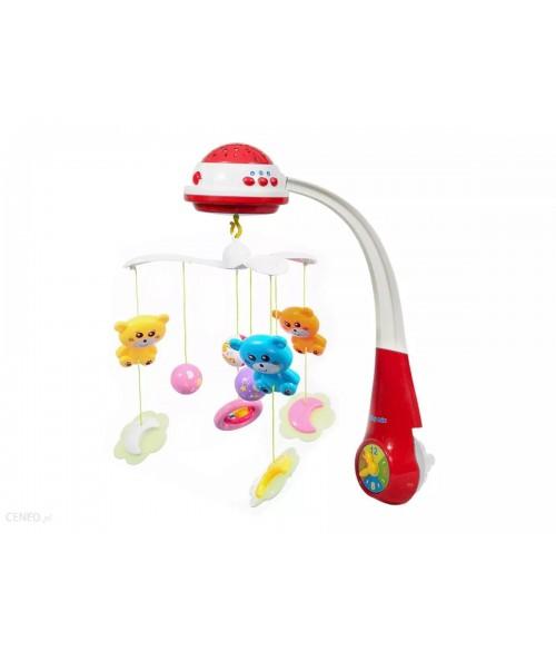 Muzikālais karuselis ar pulti un projektoru BabyMix 35604 red [NY]