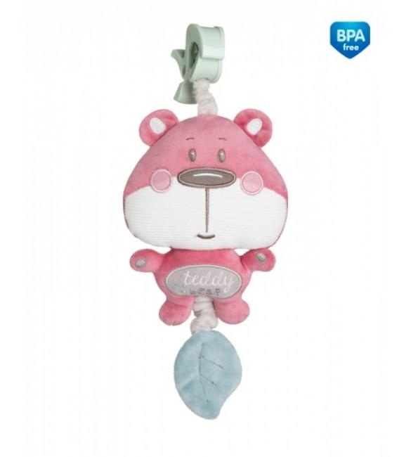 Rotaļlieta muzikālā ar pakaramo PASTEL FRIENDS  Canpol 68/069 pink