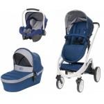"""4baby COSMO """"3-in-1"""" navy blue (ar autosēdekli) - izpārdošana"""