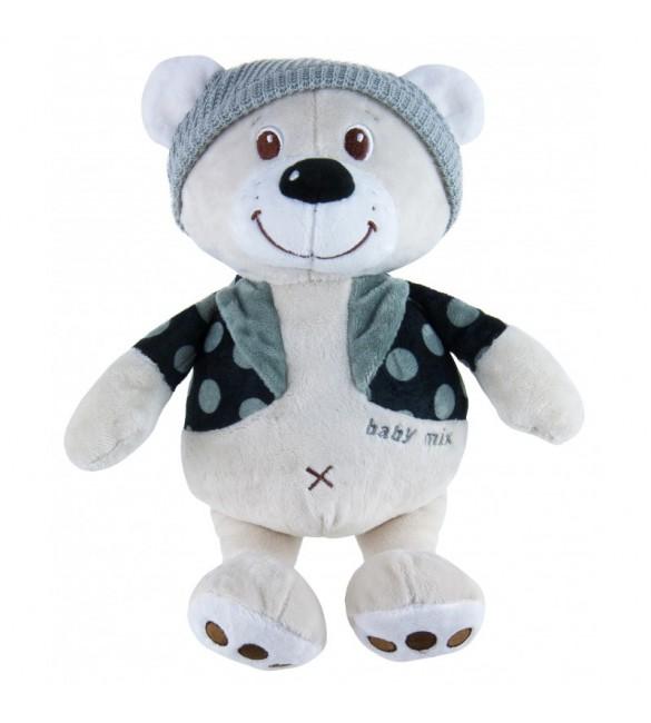 Plīša rotaļlieta LĀCIS CEPURĒ 19 cm BabyMix 8623-30