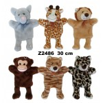 Zvēriņi -marionetes 30 cm P2486  Sandy
