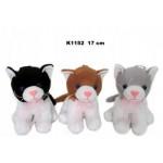 Kaķis ar skaņu (ņaud) 17 cm K1152 Sandy