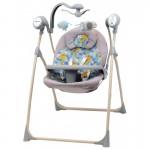 Krēsliņš-šūpoles BabyMix SW102RC DINO grey-blue