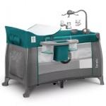 Saliekamā gulta THOMI green turquoise (2 līmeņi) Lionelo