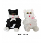 Kaķis 25 cm ar skaņu K1077  Sandy