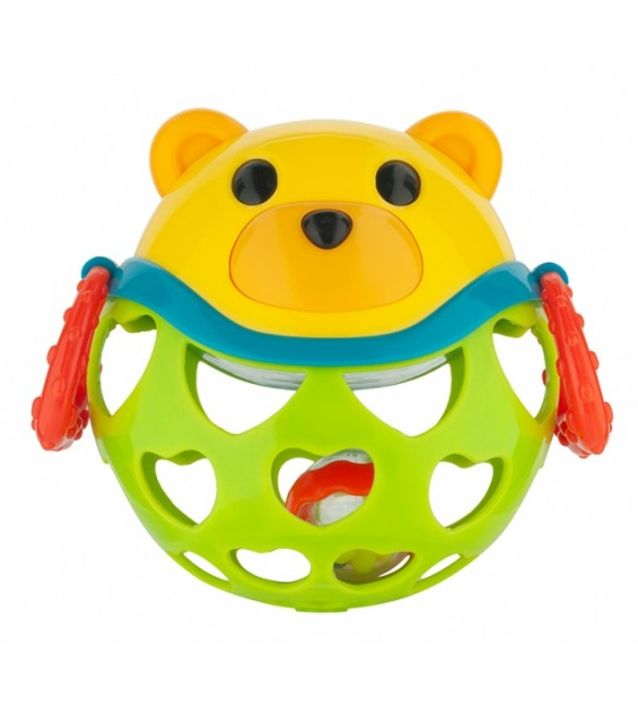 Rotaļlieta ar grabuli BEAR Canpol 79/101 green