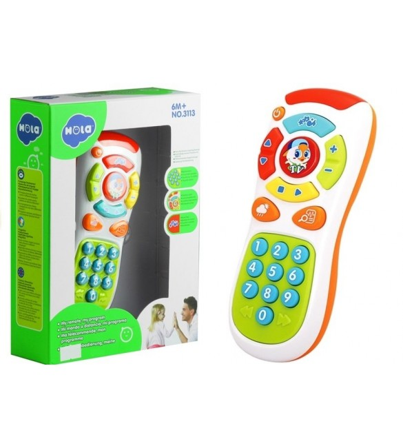 Rotaļu TV pults ar skaņām un gaismām 64220