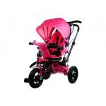 Trīsritenis PRO700 pink (3793), pumpējamie riteņi, saliekams