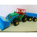 Traktors ar piekabi  60 cm  NINA 00217  (Polija)