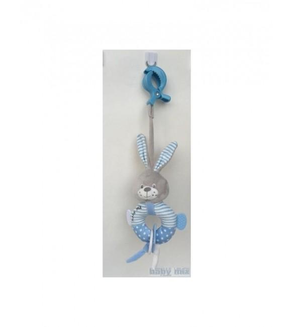 Attīstošā rotaļlieta RABBIT blue Babymix 19655BR