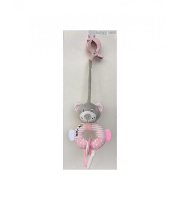 Attīstošā rotaļlieta BEAR pink  Babymix 19655PB