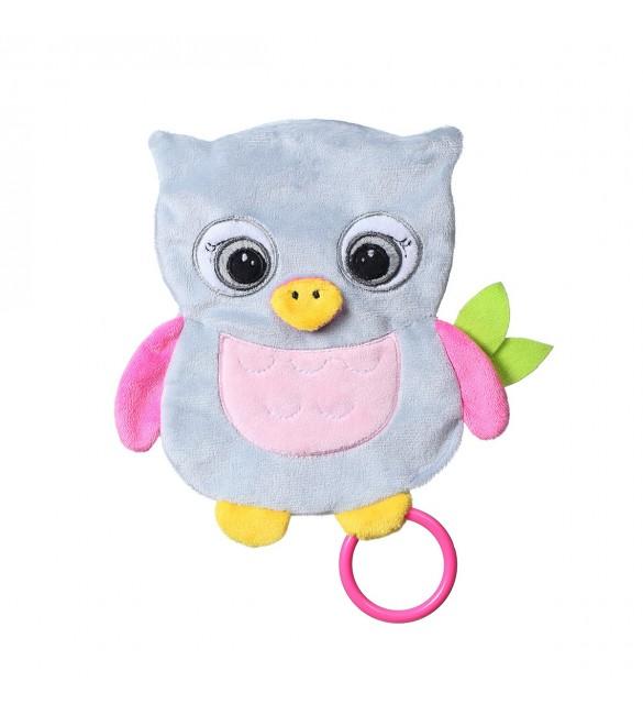 Mīļlupatiņa čaukstoša OWL CELESTE BabyOno 446