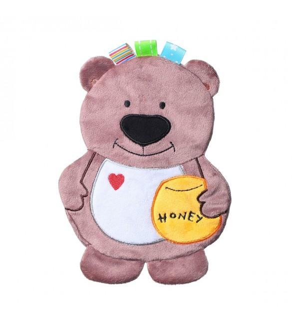 Mīļlupatiņa čaukstoša BEAR TODD BabyOno 447