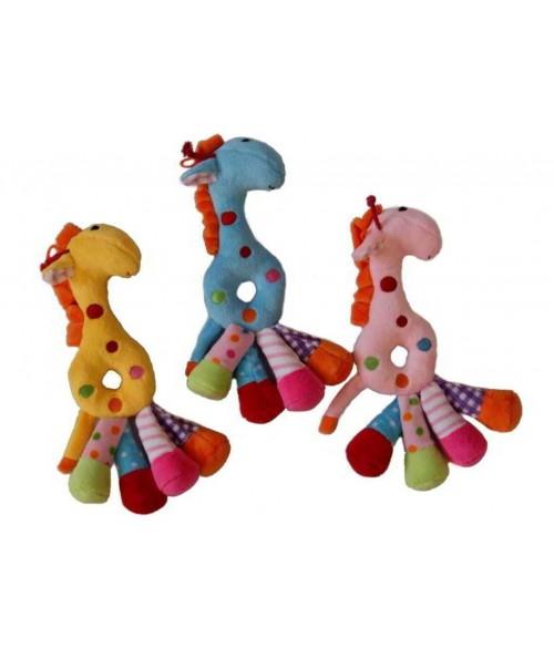 Plīša žirafīte ar grabuli  Z2191 Sandy