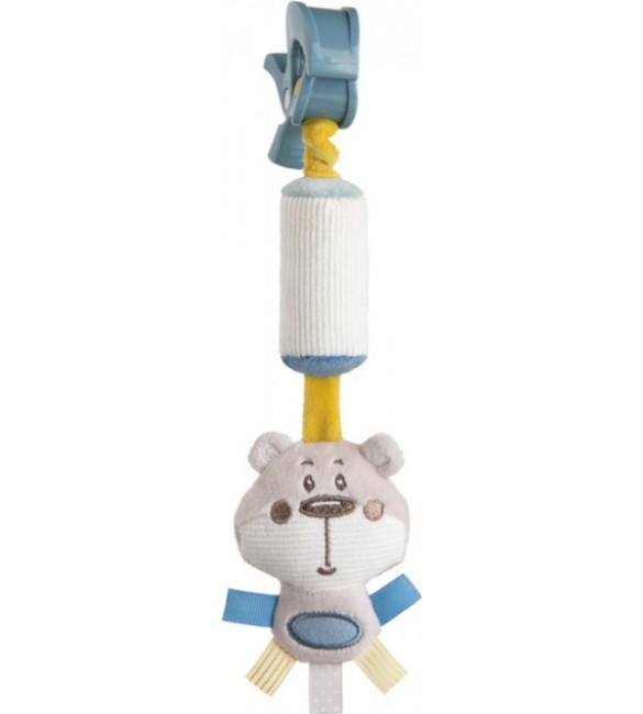 Plīša rotaļlieta ar zvaniņu PASTEL FRIENDS  Canpol 68/066 grey
