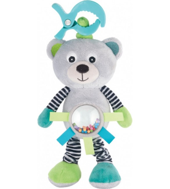 Rotaļlieta ar vibrāciju un grabulīti BEAR Canpol 68/062 grey