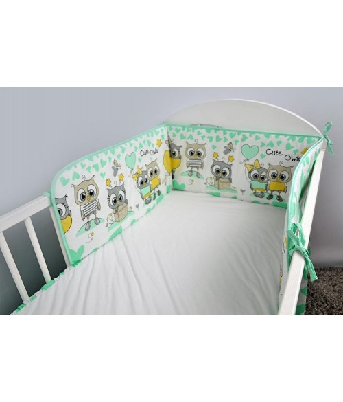 Apmale 180 cm OWLS-HEARTS mint Ankras