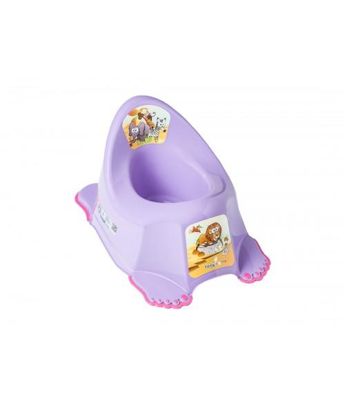 Podiņš neslīdošs, muzikālais  SAFARI  purple Tega Baby PO-045