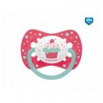 """Māneklis """"Cupcake"""" silikona simetriskas formas 0-6m, Canpol 23/282 pink"""