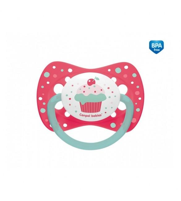 "Māneklis ""Cupcake"" silikona simetriskās formas 18+m, Canpol 23/284 pink"