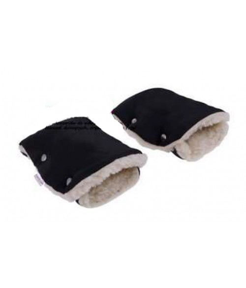 Ratiņu cimdi ar aitas vilnu CAM143 black