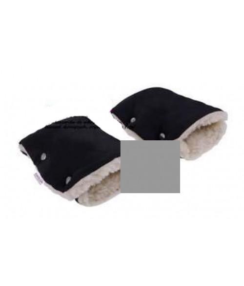Ratiņu cimdi ar aitas vilnu CAM143 grey