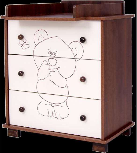 kumode LITTLE BEAR and BUTTERFLY (Maly Miš i Motylek) nut ,  ar pārtinamo galdiņu