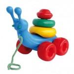 """Attīstosā rotaļlieta """"GLIEMEZIS"""" NINA 00105 (Polija)"""