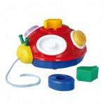 Attīstošā rotaļlieta BIZ-BIZ MĀRĪTE ar riteņiem  NINA 0115 (Polija)