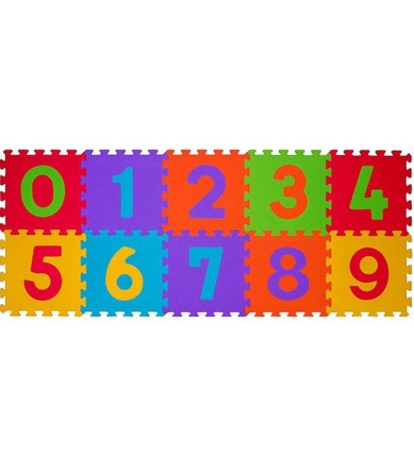 paklājiņš-puzzle NUMBERS - 10 plāksnes  Babyono 274