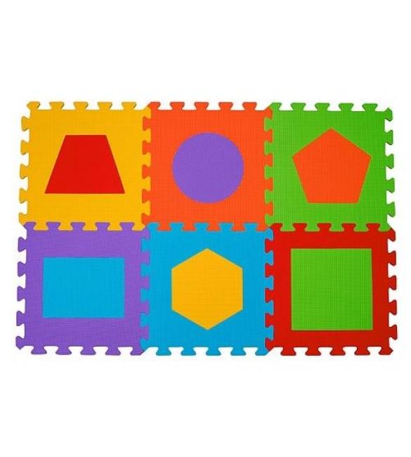 paklājiņš-puzzle FIGURES - 6 plāksnes  Babyono 279