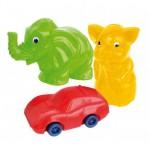 Rotaļlieta-krājkase 13 cm (cūciņa,zilonītis vai masīna) NINA 0123 (Polija)