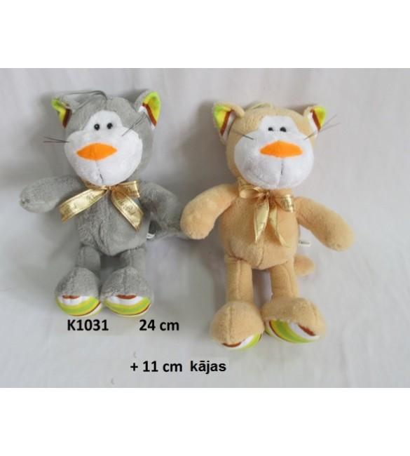 Kaķis  24 cm+ kājas 11 cm , ar skaņu   K1031  Sandy