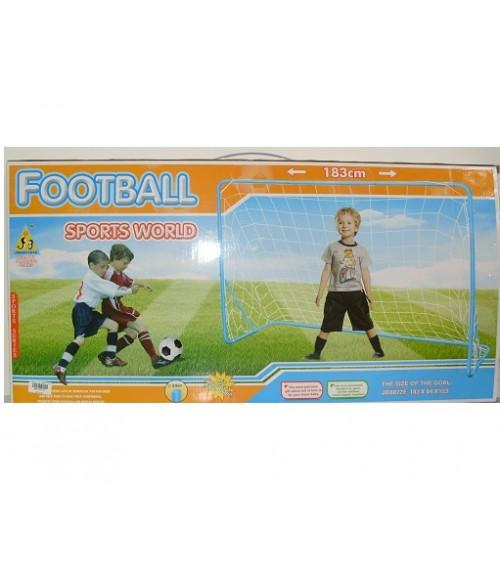 Futbola vārti 183x123x64cm ar tīklu,bumbu un pumpi TAJ8872F.3494